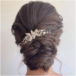 Haarnadel Silber Perlen Strass 1. Stk. Haarschmuck Braut Haarschmuck Hochzeit N6119-Silber