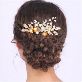 Haarschmuck Braut Haarkamm Hochzeit N33082 Haarschmuck Hochzeit Haarkamm Gold Blumen Perlen