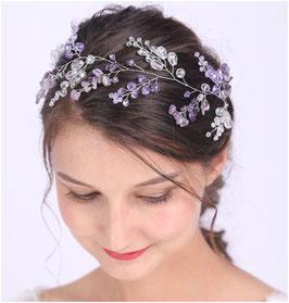 Haarband Perlen Haarschmuck Braut Haarschmuck Hochzeit N22914 Haarschmuck Lila