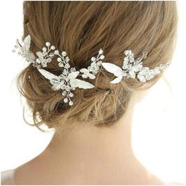 Set 3 Stück Haarnadeln Braut Haarnadeln Hochzeit Silber Strass Perlen N6370