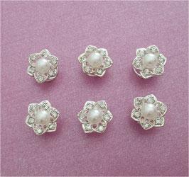 Set 12 Stück Curlies Perlen Silber N904