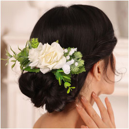 Haarklammer Blumen Haarschmuck Braut Kopfschmuck Hochzeit N4776 Haarschmuck Hochzeit
