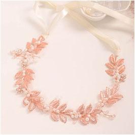 Haarband Rosegold Perlen Haarschmuck Braut Haarschmuck Hochzeit N22904