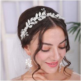 Haarband Silber Perlen Haarschmuck Braut Haarschmuck Hochzeit N22902