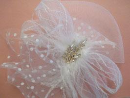 Fascinator Braut Haarschmuck Hochzeit N4915