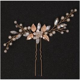 1. Stk. Haarnadel Gold Perlen Strass Art. N6119-Gold Haarschmuck Braut Haarschmuck Hochzeit