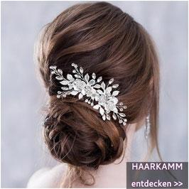 Haarschmuck Braut Haarkamm Silber Blumen Strass N32774 Brautschmuck Blumen Silber Haarschmuck Blumen