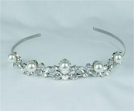 Haarschmuck Braut Haarschmuck Perlen Silber Brautschmuck Diadem Perlen N1087