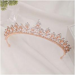 Brautschmuck Diadem Rosegold Strass Perlen Haarschmuck Hochzeit N1227 Haarschmuck Rosegold Haarschmuck Braut