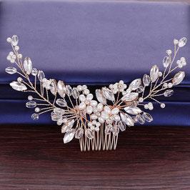 Haarschmuck Braut Haarkamm Blumen Perlen Gold Vintage Hochzeit Haarschmuck Gold N3193 Brautschmuck Gold Perlen Strass