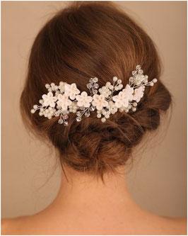 Haarkamm Blumen Perlen Art. N3837 Haarschmuck Braut Haarschmuck Hochzeit