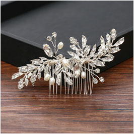 Haarschmuck Braut Haarkamm Silber Perlen Strass Haarschmuck Silber N37505 Brautschmuck Silber Strass Kopfschmuck Braut Haarschmuck Hochzeit
