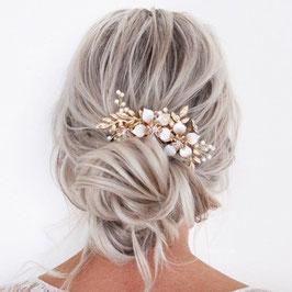 Haarschmuck Braut Haarkamm Gold Blumen Perlen Haarschmuck Hochzeit N3368 Haarschmuck Gold