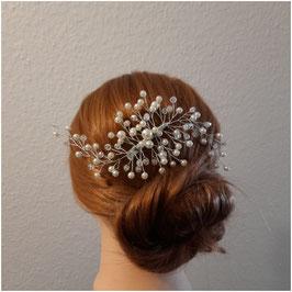Haarklammer Perlen Silber Haarschmuck Hochzeit Haarschmuck Braut N4224