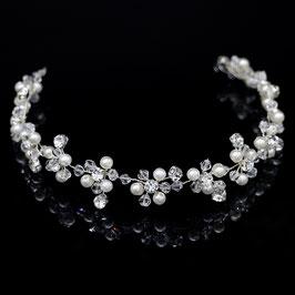 Haarband Perlen Silber Strass Haarschmuck Braut Haarschmuck Perlen N2322