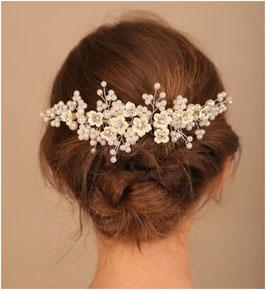 Haarkamm Blumen Perlen Strass Art. N3833 Haarschmuck Braut Haarschmuck Hochzeit