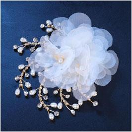Haarklammer Braut Haarklammer Perlen Strass Gold Haarschmuck Braut Kopfschmuck Hochzeit N47211