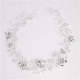 Haarband Perlen Strass Silber N29327 Haarschmuck Braut Haarschmuck Hochzeit