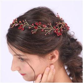 Haardraht Rot Haarschmuck Braut Kopfschmuck Haarschmuck Hochzeit N20070
