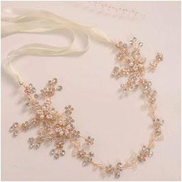 Haarband Gold Perlen Strass Haarschmuck Braut Haarschmuck Hochzeit N2777