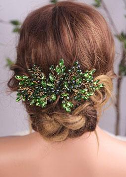 Haarschmuck Braut Haarkamm Hochzeit Haarkammm Braut Haarschmuck Hochzeit N38402 Haarschmuck in Grün Brautschmuck Perlen Strass