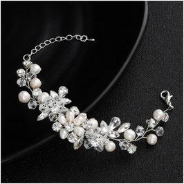 Armband Perlen Strass N5897