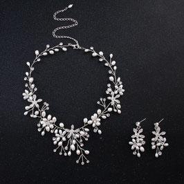 Schmuckset Perlen Strass Brautschmuck Perlen Strass N5475