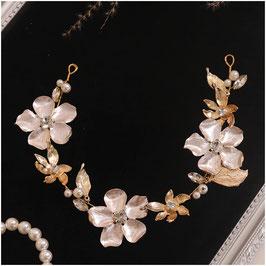 Haarband Gold Blumen Perlen Vintage Haarschmuck Braut Kopfschmuck Haarschmuck Hochzeit N2314