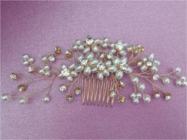 Brautschmuck Haarkamm Gold Blumen Strass Vintage Haarschmuck Braut N39044 Hochzeit Haarschmuck Gold Perlen