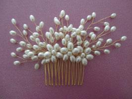 Haarkamm Braut Kopfschmuck Braut Haarkamm Gold Perlen N300280 Haarschmuck Gold Perlen