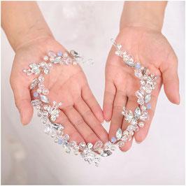 Haarband Perlen Silber Haarschmuck Braut Haarschmuck Hochzeit N28235