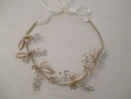 Haarschmuck Braut Haarband-Haardraht Gold Blumen Strass Vintage N2357 Brautschmuck Haarschmuck Festlich