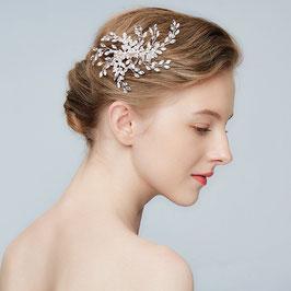 Brautschmuck Haarklammer Strass Kristall Silber N40005 Hochzeit Haarschmuck Braut