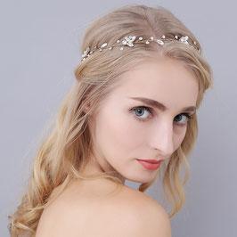 Haarband Silber Haarschmuck Braut Haarschmuck Hochzeit N29022-Silber