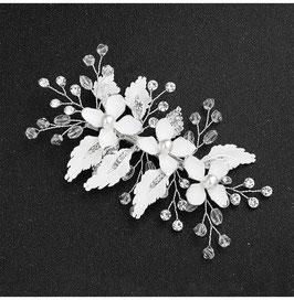 Haarschmuck Braut Haarklammer Silber Blumen Perlen Strass Vintage Haarschmuck Hochzeit Haarschmuck Silber N4800
