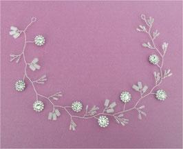 Haardraht Braut Haarschmuck Perlen Silber N20227 Brautschmuck Perlen Strass