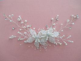 Haarklammer Perlen Blumen Fascinator Braut Haarklammer Hochzeit N4833 Brautschmuck Perlen