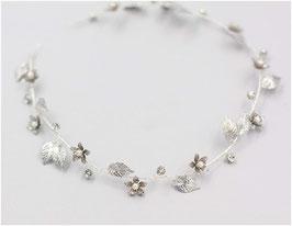 Haarband Silber Blumen Perlen Haarschmuck Braut Haarschmuck Hochzeit N20170