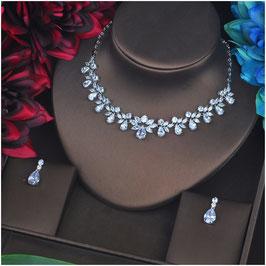 Brautschmuck Set Halskette Ohrringe N58822