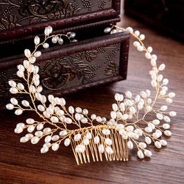 Brautschmuck Haarkamm Gold Perlen Haarschmuck Hochzeit Haarschmuck Kamm Gold N3968