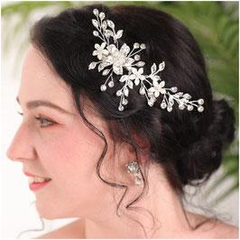 Haarklammer Silber Perlen Fascinator Braut Haarklammer Hochzeit N47012 Haarschmuck für die Braut