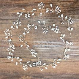 Haardraht Braut Haarschmuck Perlen Silber N2229 Brautschmuck Perlen Haarschmuck Hochzeit