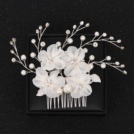 Haarschmuck Braut Haarkamm Blumen Strass Perlen Haarschmuck Hochzeit Haarkamm N30700