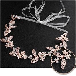 Haarband Rosegold Perlen Strass Haarschmuck Braut Haarschmuck Hochzeit N2776