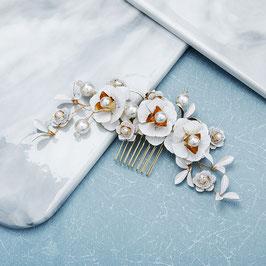 Brautschmuck Haarkamm Gold Vintage Blumen Perlen N30020 Haarschmuck Braut Haarschmuck Hochzeit