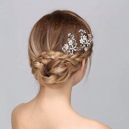 Set 3 Stück Silber Haarnadeln Hochzeit Haarnadeln Braut Haarschmuck Perlen N61108