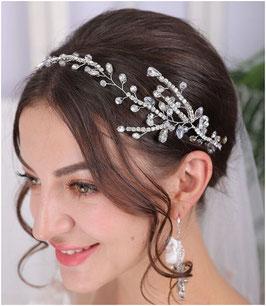 Haarband-Haardraht Silber Strass Haarschmuck Braut Kopfschmuck Haarschmuck Hochzeit N2306