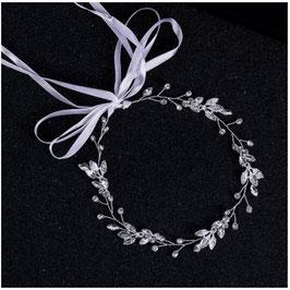 Haarband Braut Haarband Silber Haarschmuck Silber Haarschmuck Braut Haarschmuck Hochzeit N25059-Silber