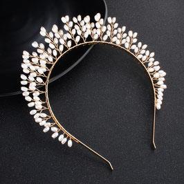 Haarreif Gold Perlen Haarschmuck Braut Haarschmuck Hochzeit N27704