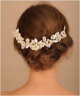 Haarkamm Blumen Perlen Art. N3860 Haarschmuck Braut Haarschmuck Hochzeit